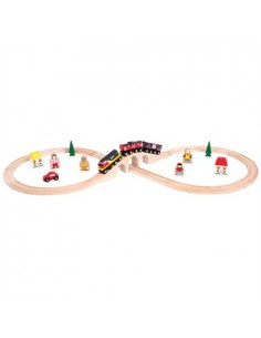 Bigjigs Heritage Collection Nationale Canadese Trein Set