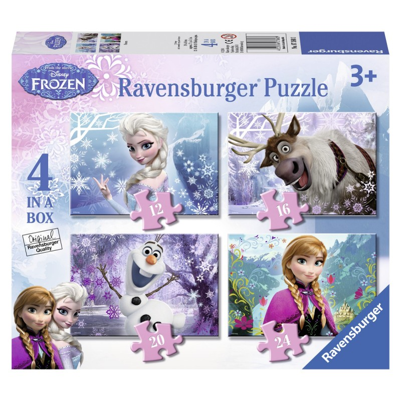 Puzzel Disney Frozen 4 in 1 box