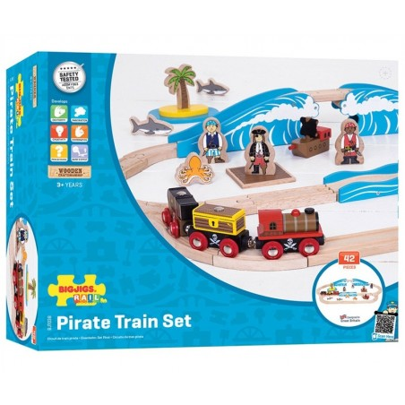 Bigjigs piraten trein set